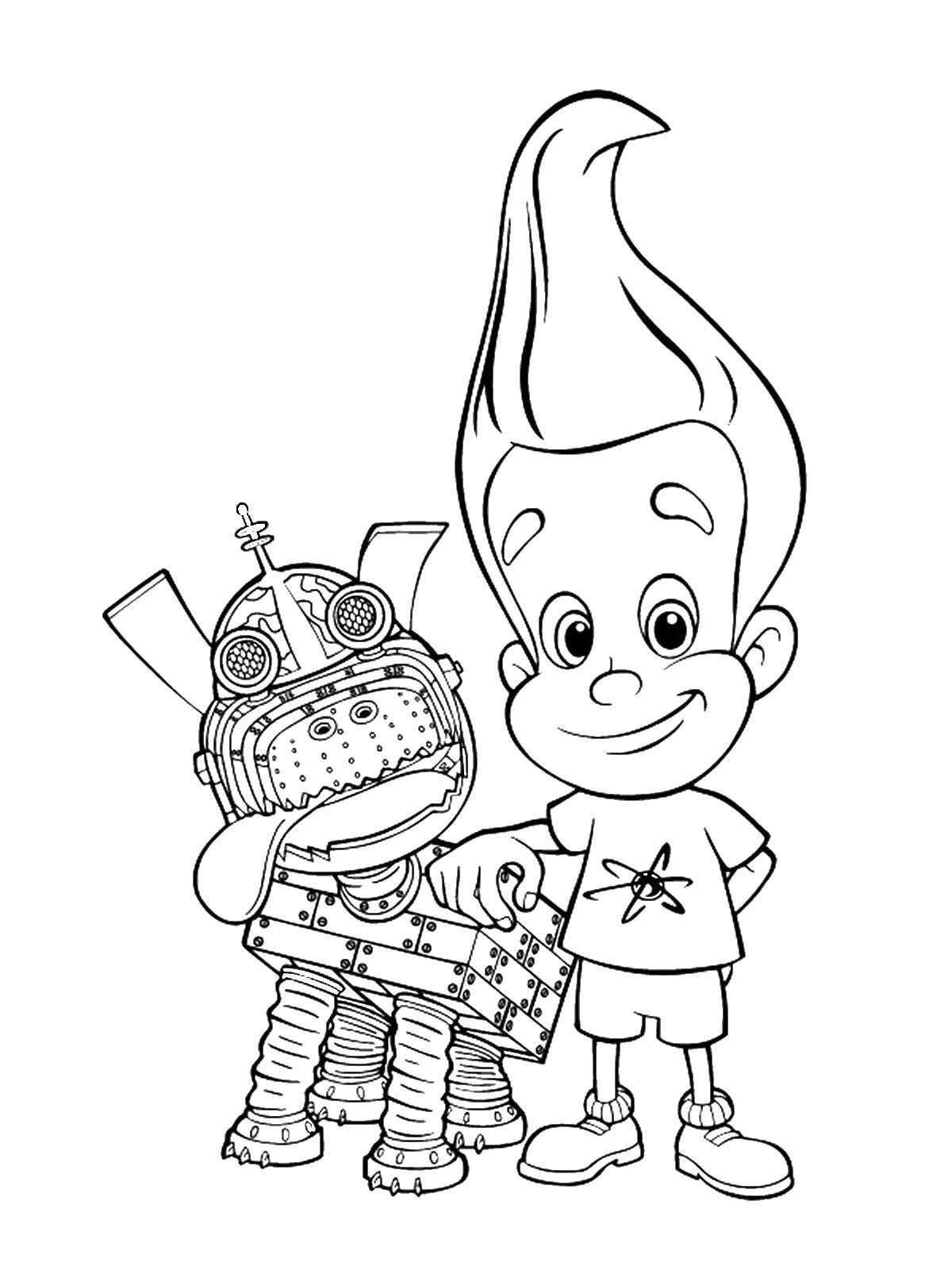Jimmy Neutron Coloring Pages Jimmy Neutron Cartoon Coloring