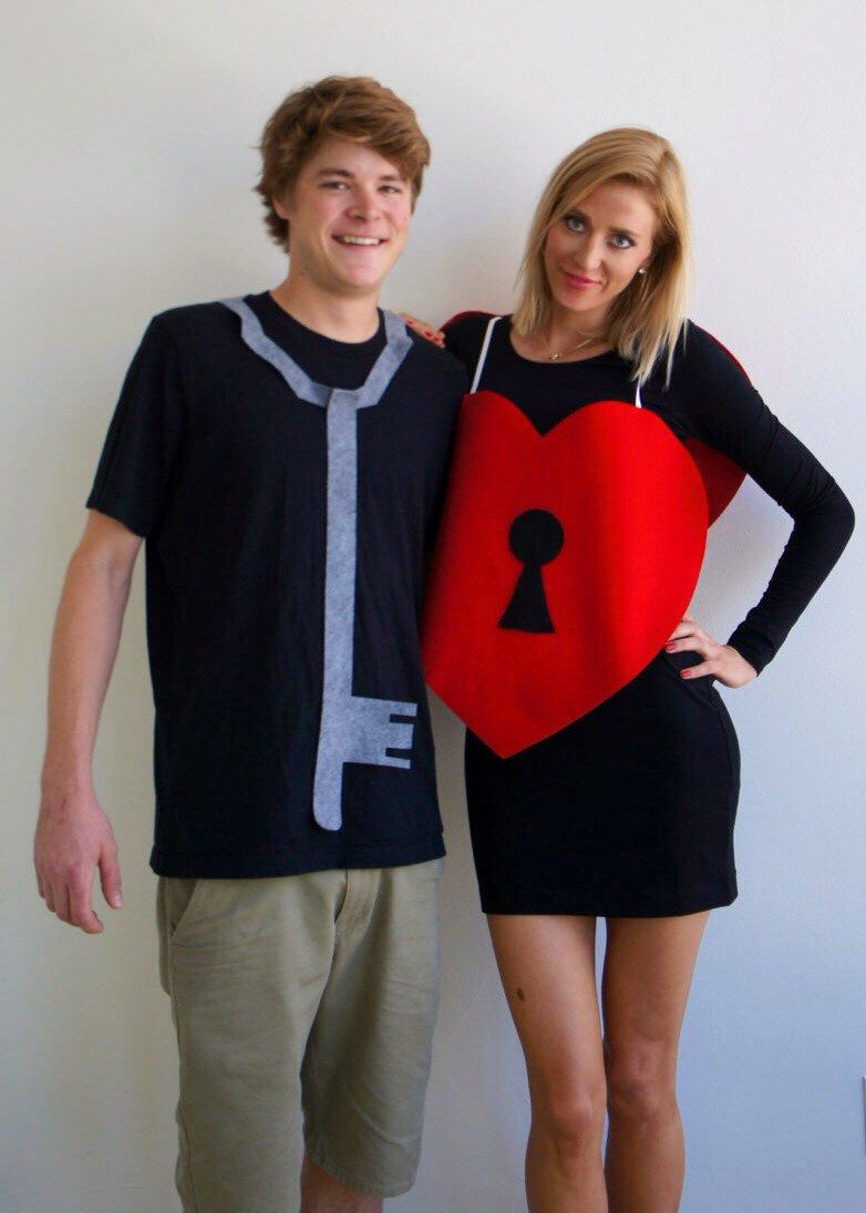 Key to Her Heart Coupleu0027s Halloween Costume from Duel Design Shop  sc 1 st  Pinterest & Key to Her Heart Coupleu0027s Halloween Costume from Duel Design Shop ...