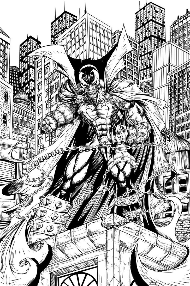 Uncategorized Spawn Coloring Pages spawn inks by c crain on deviantart adult coloring pages comix deviantart