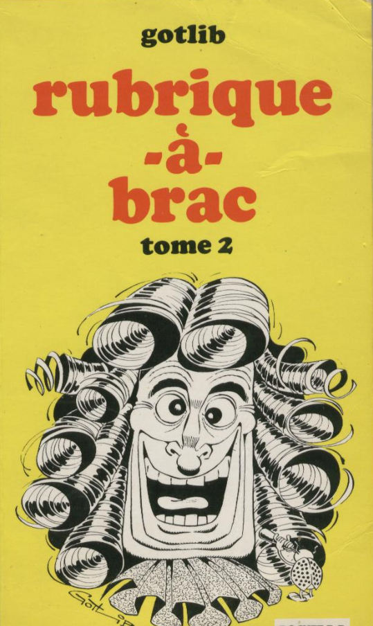 Gotlib Rubrique A Brac Volume 2 Drawing For Kids Comic Book Cover Tome