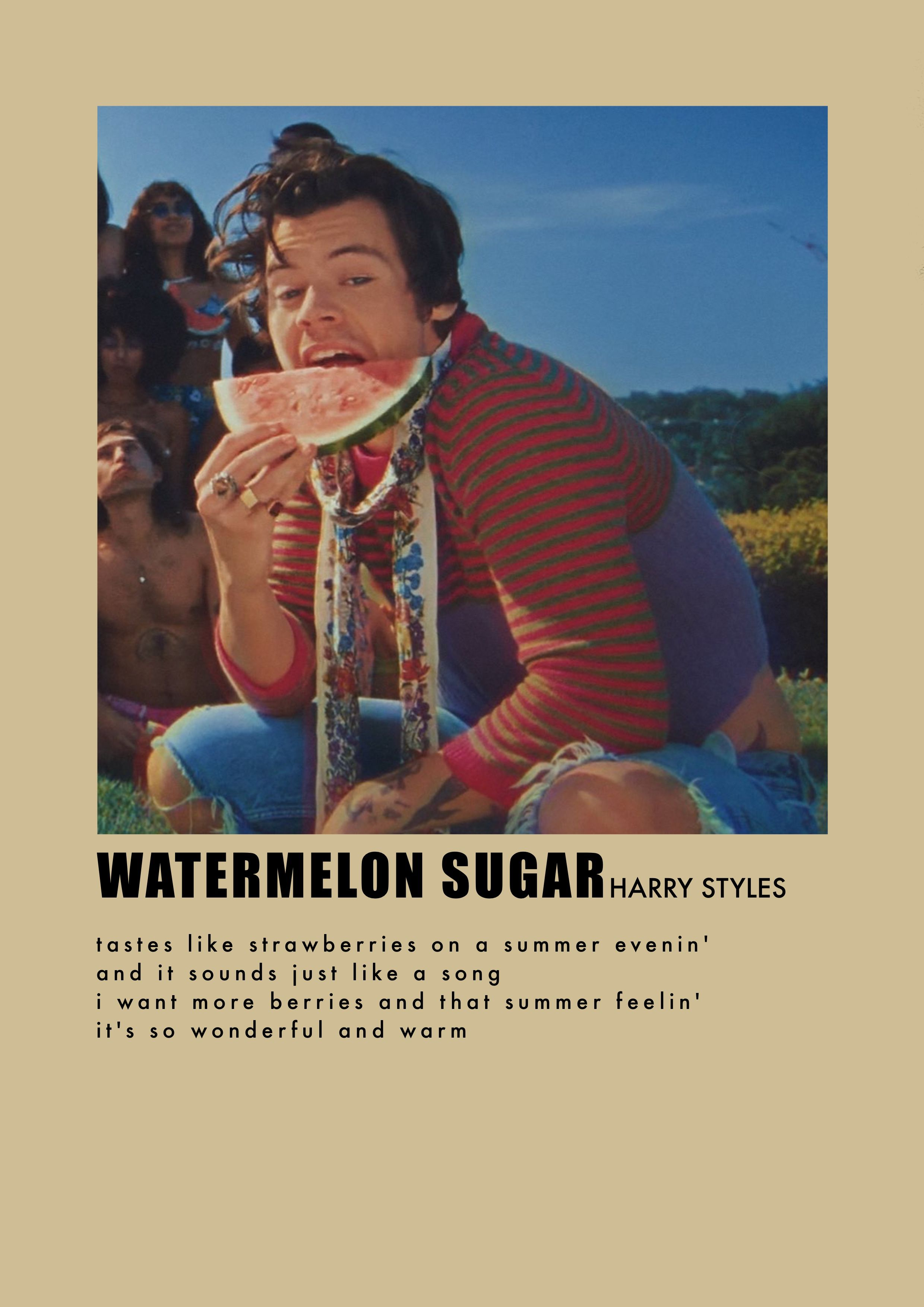 Watermelon Sugar By Harry Styles Poster