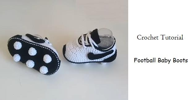 Crochet Football Baby Boots in 2020