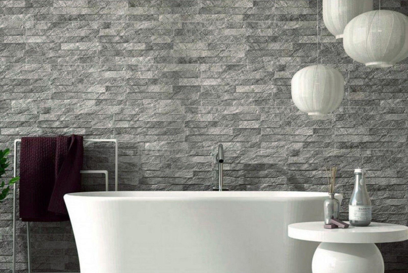 Ribera Grey Slate Effect Wall Tiles Bathroom Wall Tile Grey Slate Tile Slate Wall Tiles Bathroom