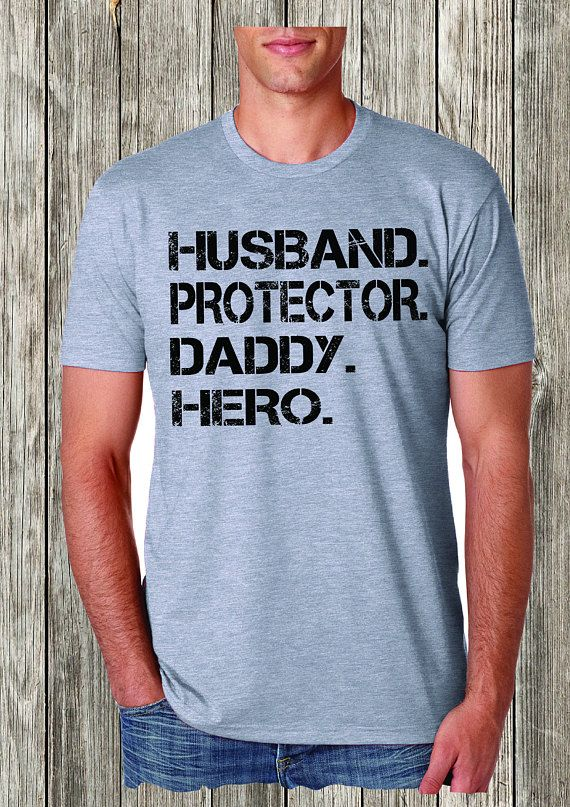 43e1efcea Husband, Protector a Daddy, Hero, dad shirt, Best Dad Shirt, Father's Day  Shirt, Adult Clothing, Tee