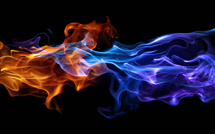 Download wallpapers blue fire, 4k, fire flames, burn, fire, darkness besthqwallpapers.com