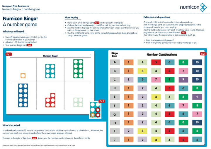 Here\'s a set of Numicon Bingo cards. | Year 1 Ideas | Pinterest ...