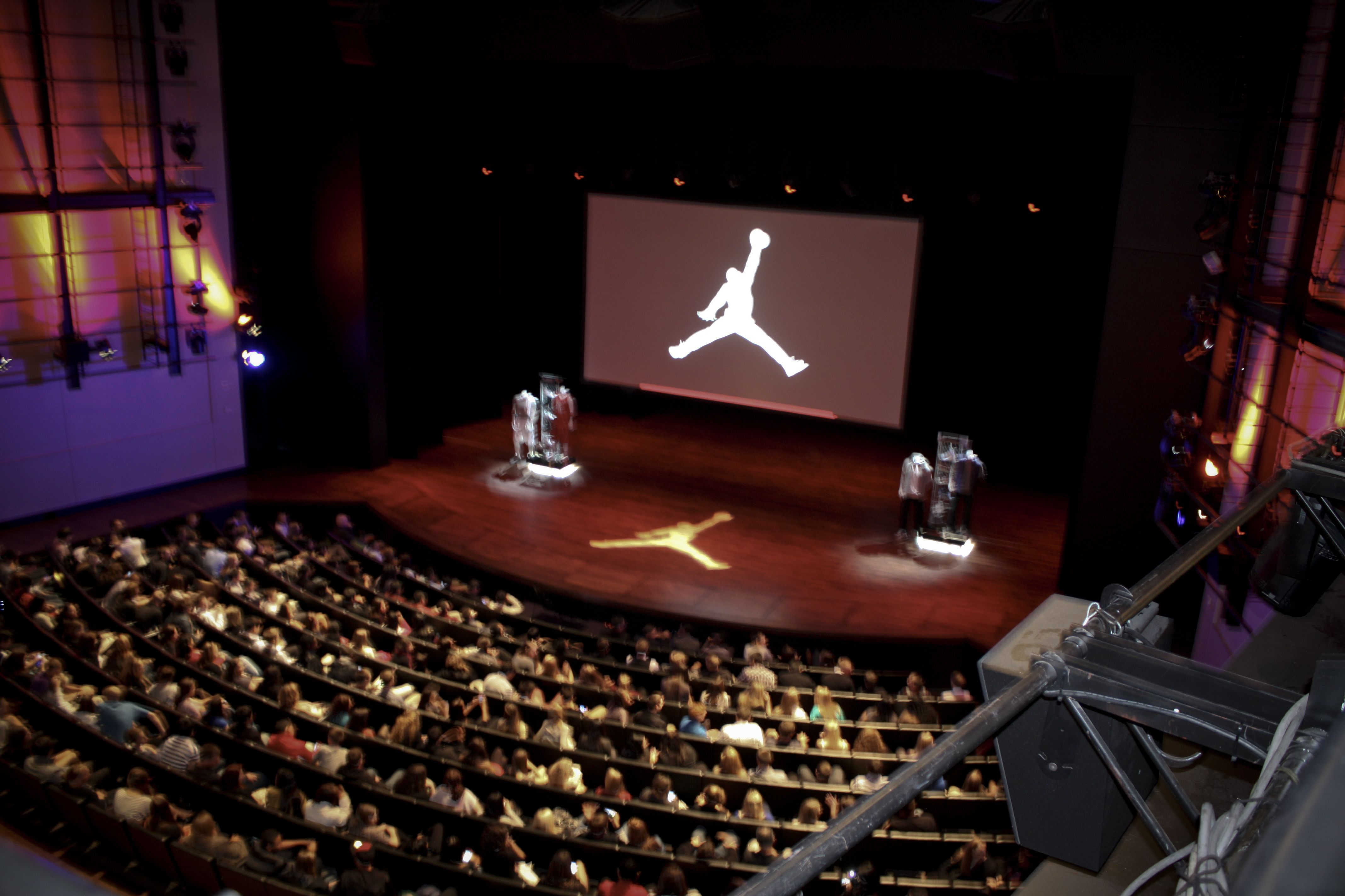 ab80e86db Students pack the auditorium in the Tiger Woods Center for our 4th Annual  Jordan Brand Experience event.