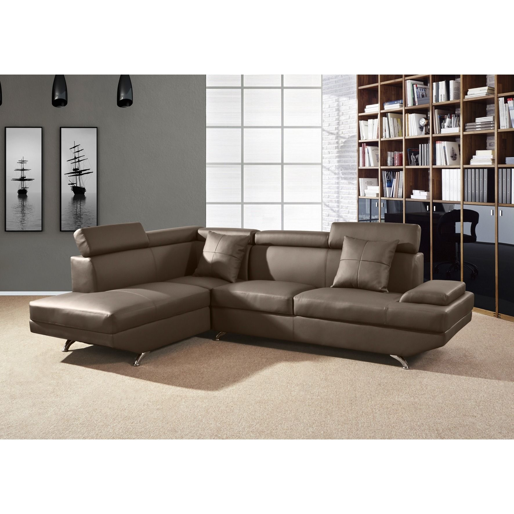 Elena leather 2 piece sectional sofa sofa menzilperdenet for Elena leather 2 piece sectional sofa sofa chaise