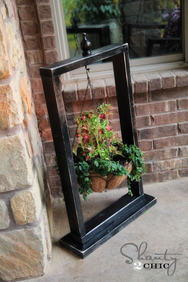 Hanging Outdoor Pot Stand To Add Character To Porch