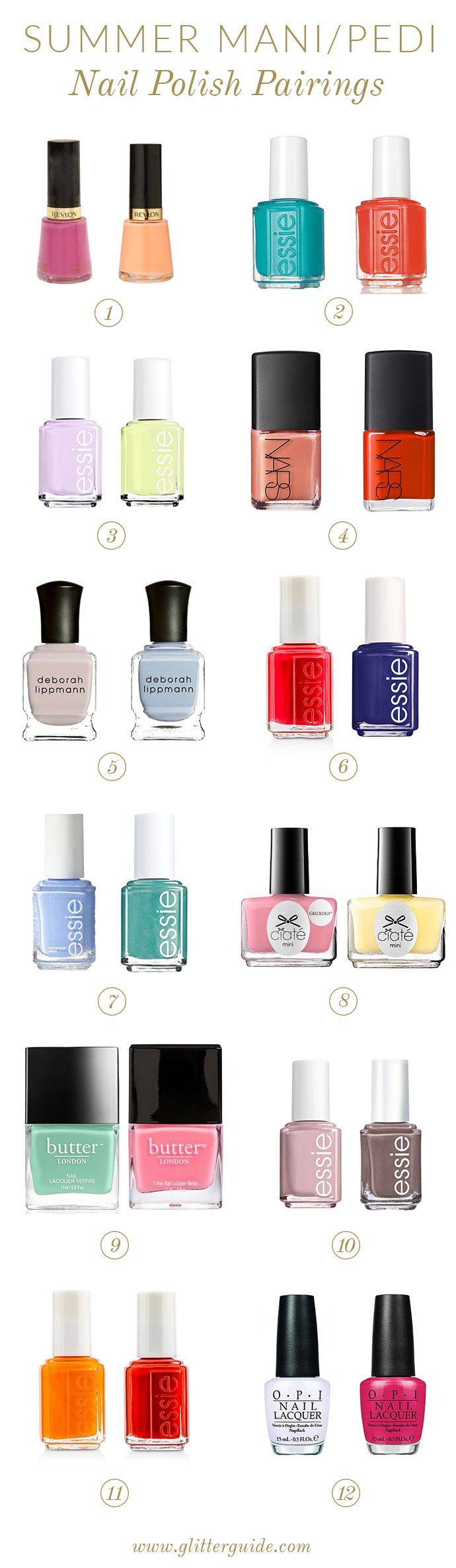 12 Summer Mani/Pedi Combinations To Try Now | Pinterest | Color ...