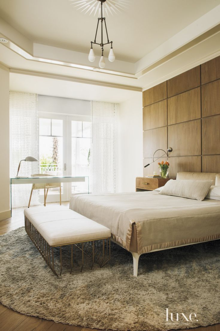 Beautiful Wood Paneled Wall With Images Luxe Bedroom Neutral