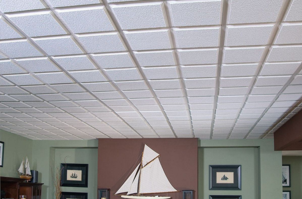 Alternative basement ceiling ideas basements pinterest armstrong ceiling tile options this isnt all that common although many people paint their ceiling and do something just dailygadgetfo Image collections