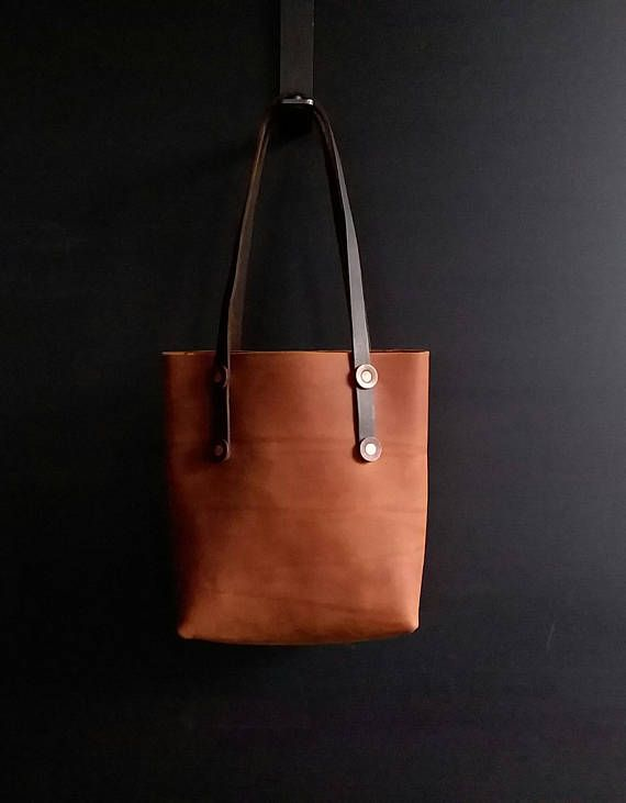 Handmade Leather Tote Bag - Chap Leather - Book Bag - Shoulder Bag - Work  Bag - Shopping Bag - Hand Sewn - Made in the USA - Copper - Fall 5c6a7b9bff5c7