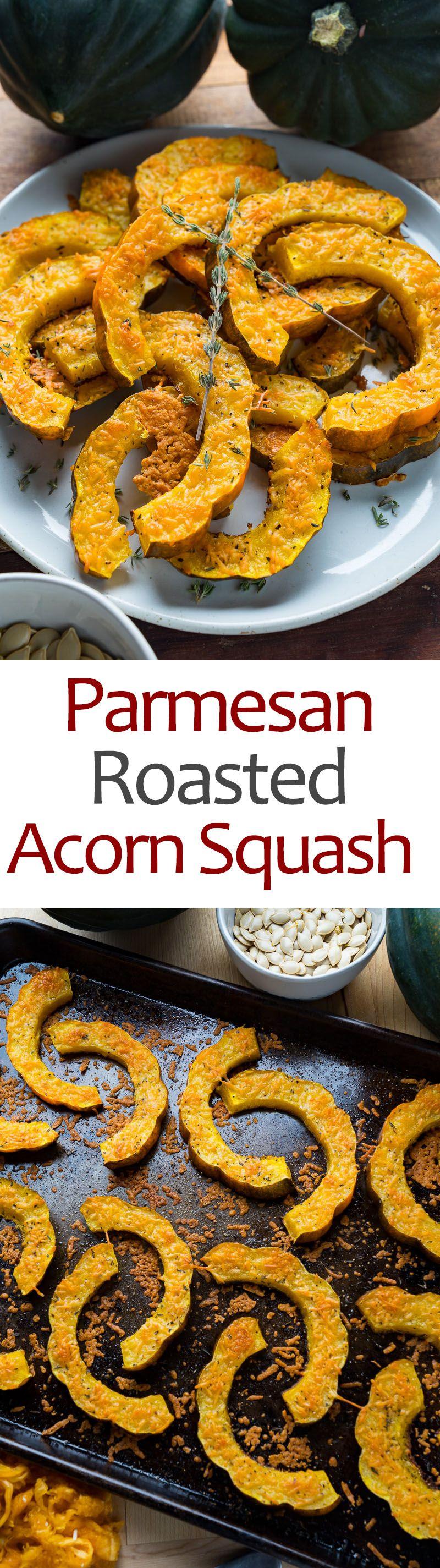 Parmesan Roasted Acorn Squash Recipe Acorn Squash Food