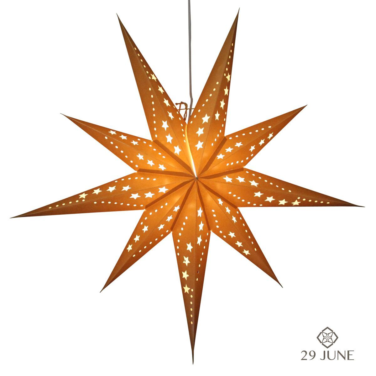 Sunlight Gold Hanging star lanterns http://www.29june.com/index.php/paper-stars/sunlight-gold.html