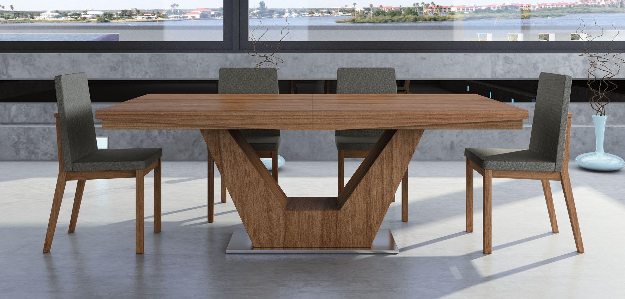 Mesa de comedor extensible moderna verona maria for Mesa redonda extensible moderna
