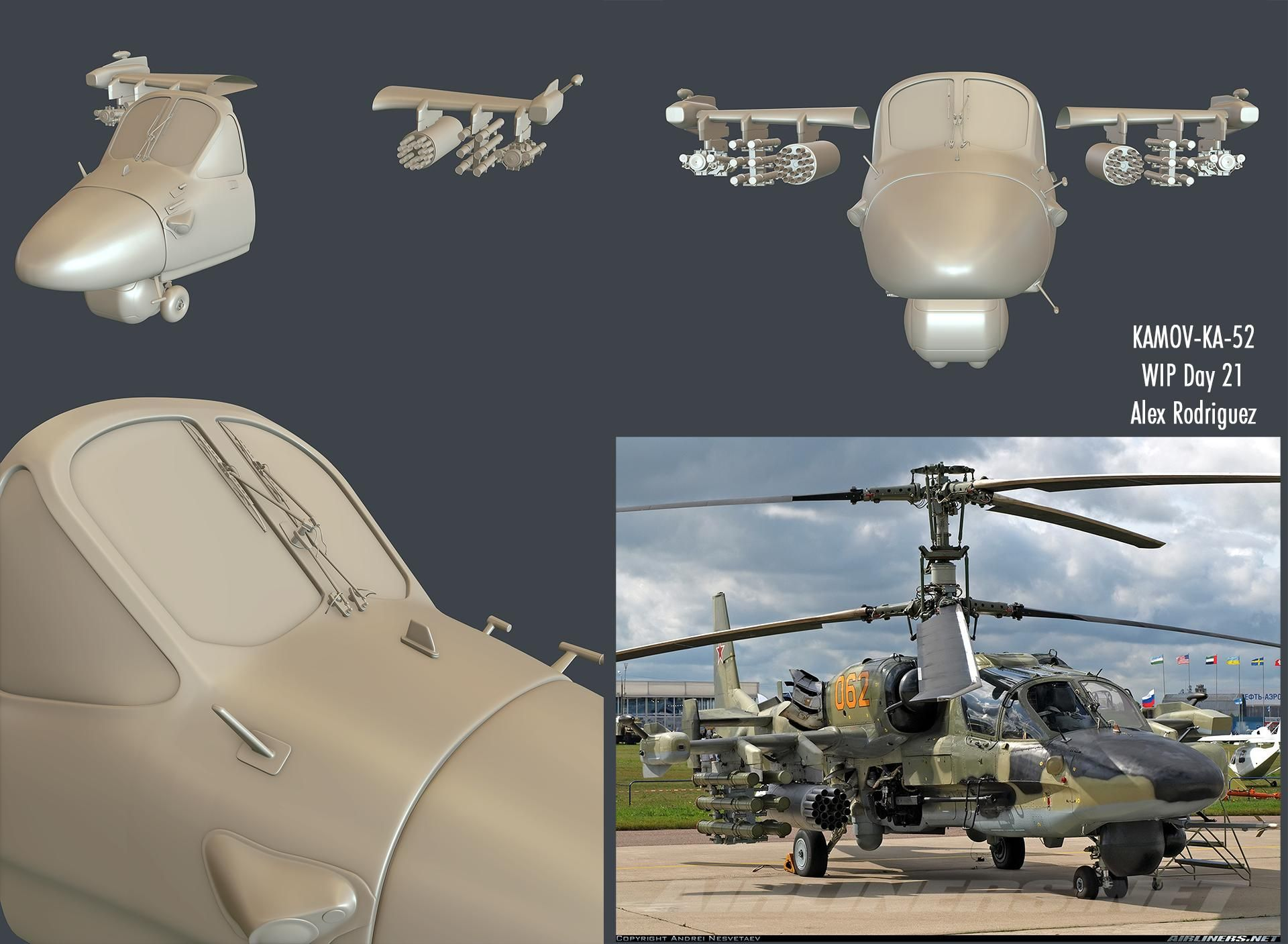 KA-52 Alligator Russian Attack Helicopter - Page 2 - Polycount Forum
