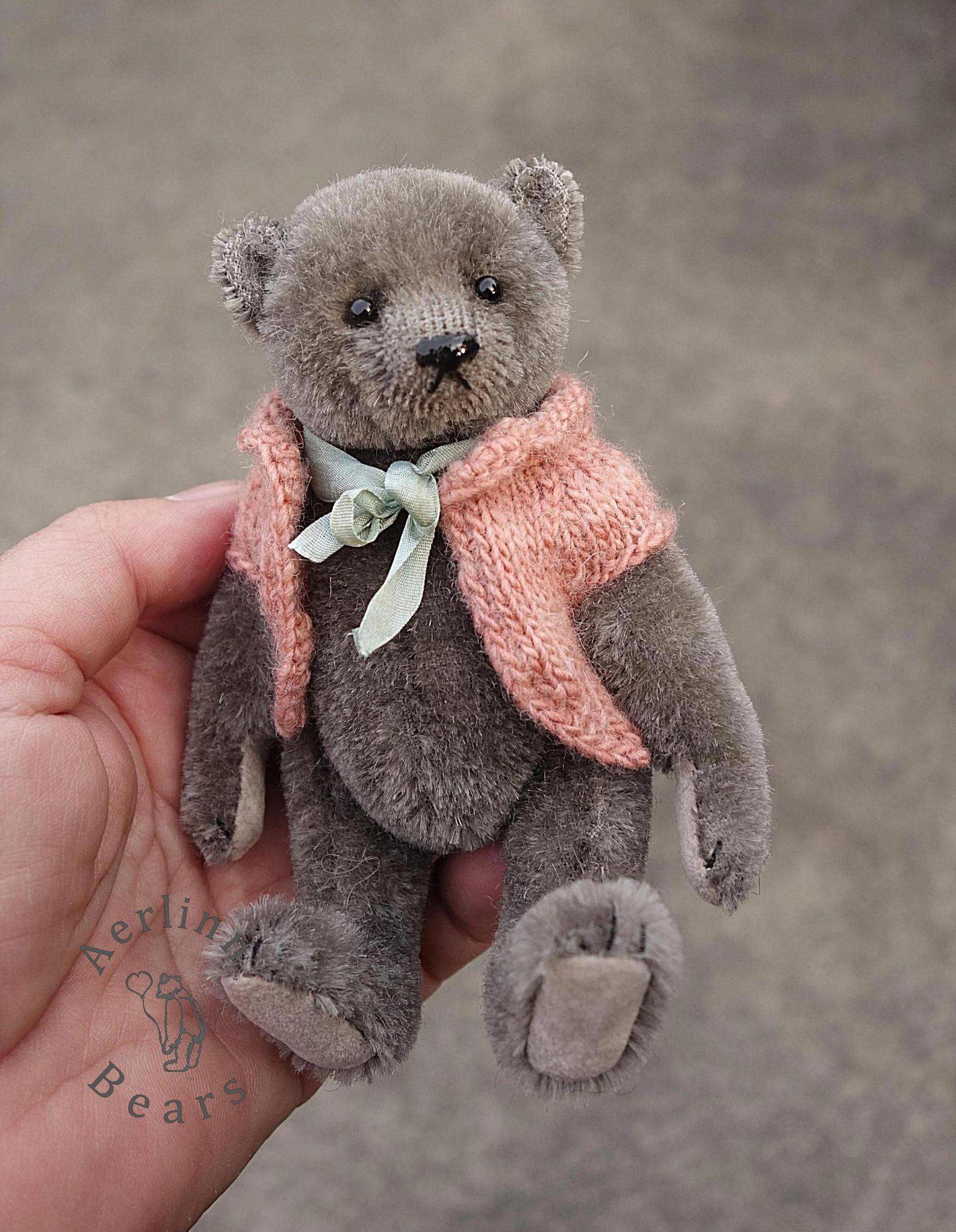 Violetta Miniature Grey 5 Mohair Artist Teddy Bear Etsy Teddy Bear Pattern Handmade Teddy Bears Mohair Teddy Bear [ 2046 x 1588 Pixel ]