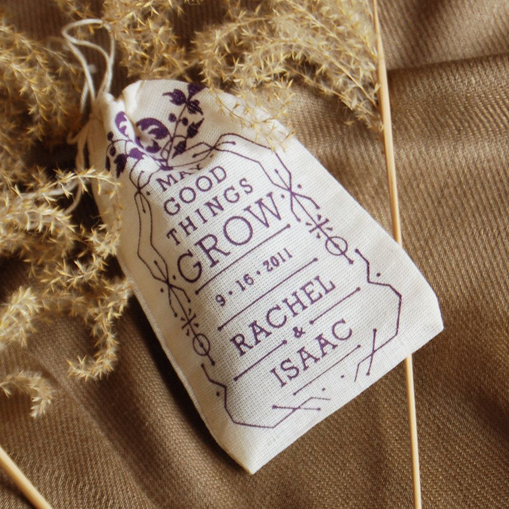 Personalized Wedding Favor Seed Bombs
