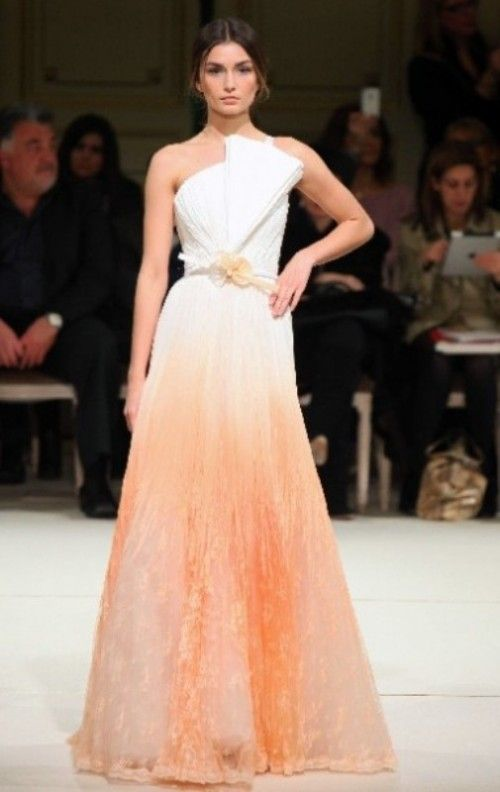 60eac45933 15 Beautiful Dip Dye Wedding Dresses To Get Inspired