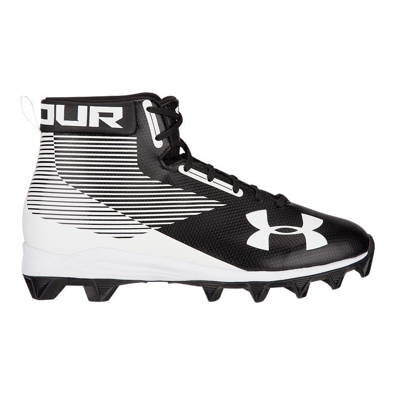 8d5ea6c42e8e Under Armour Men's Hammer RM Mid Football Cleats - Black/White in ...
