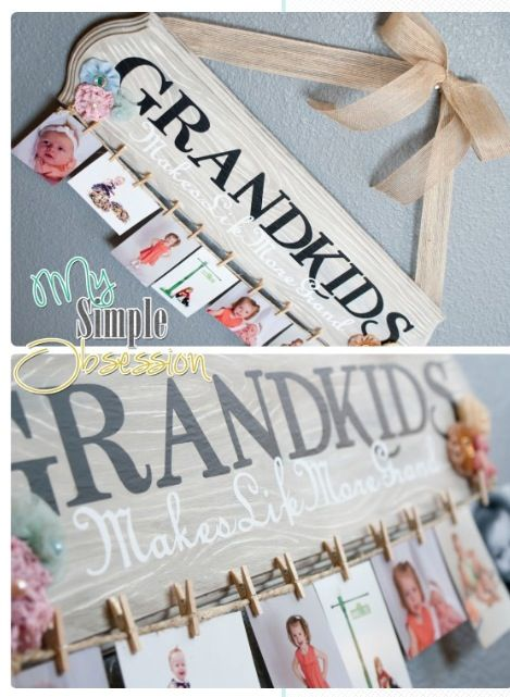 Cute gift idea for family Instead of grandkids you can also do