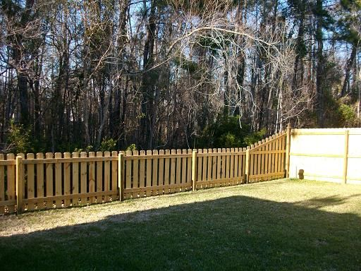 Dog ear picket fence in charleston sc backyard yards for 4 foot fence ideas