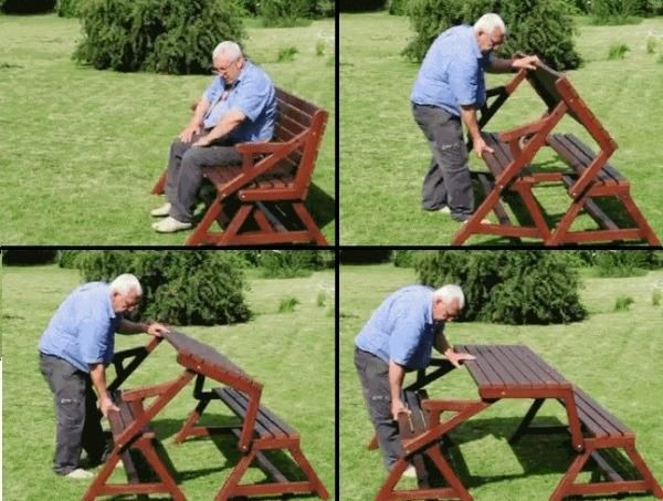 How To Build A DIY 2 In 1 Convertible Folding Bench And Picnic Table