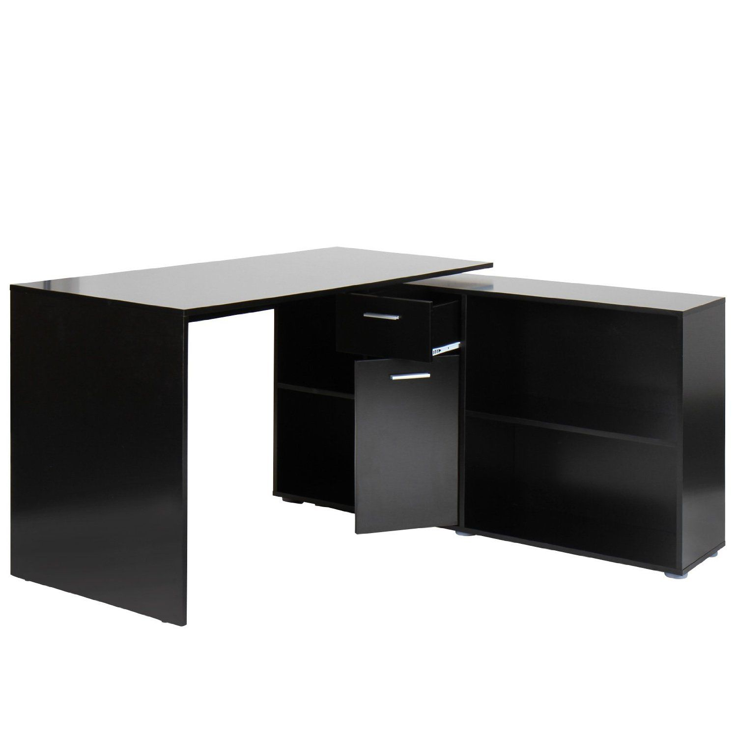 Schreibtisch Modern Amazon Miadomodo Stsh02 Corner Desk Different Colours Black Amazon Co