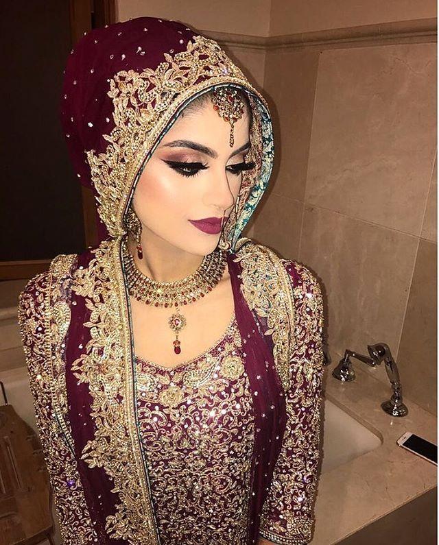 Pinterest: ??beauty0321?? Desi Bridal Makeup Looks ...