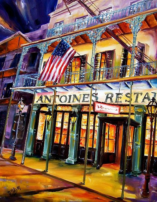 Antoines Restaurant In The New Orleans French Quarter By Diane
