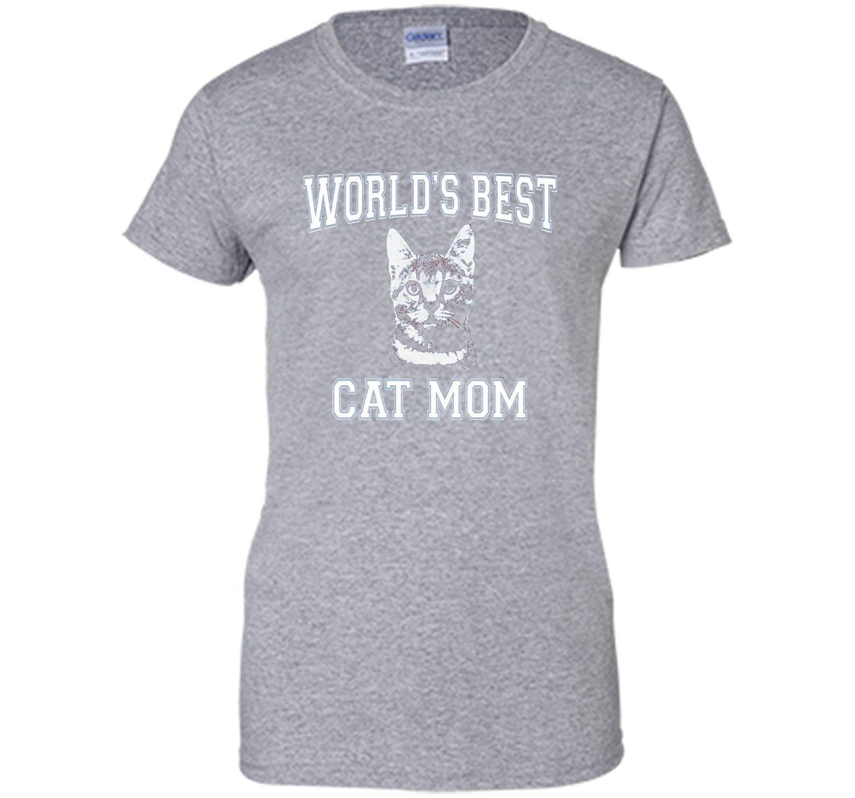 World s Best Cat Mom T shirt Cat Shirt for Women
