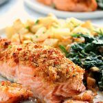 Photo of Garlic Parmesan Crusted Salmon Recipe (Oven and Air Fryer version)