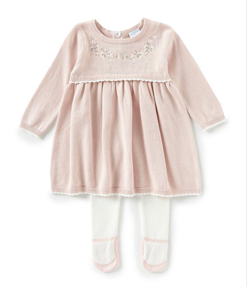 Edgehill Collection Baby Girls Newborn-6 Months Long Sleeve