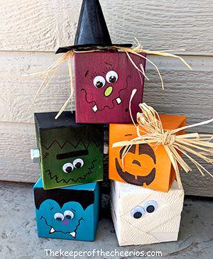 Halloween Craft Blocks - The Keeper of the Cheerios