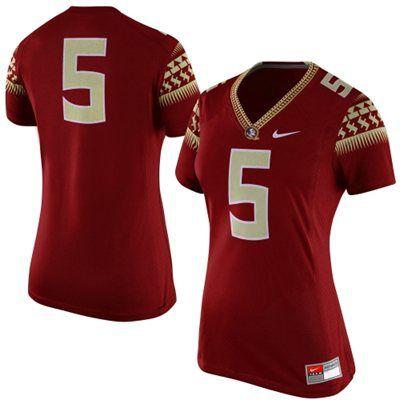 2e93ea8bc Florida State Seminoles Nike Womens  5 Game Replica Football Jersey – Garnet