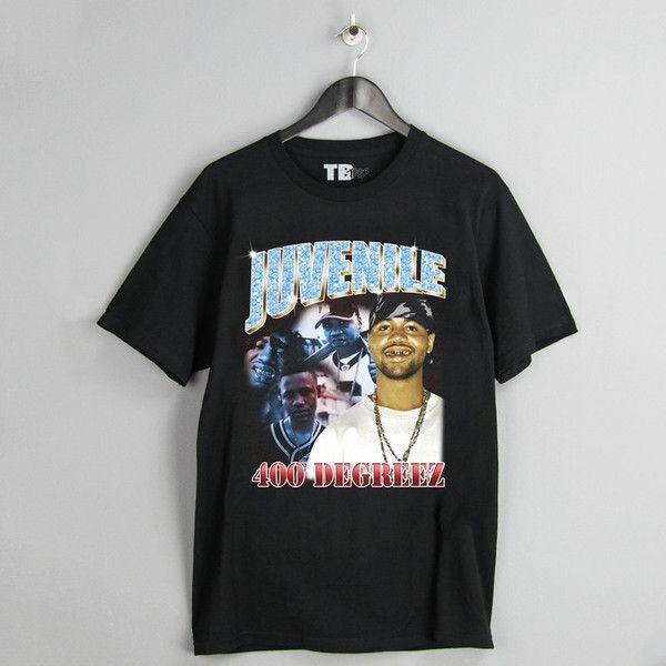 Juvenile T Shirt Vintage Vtg Cash Money Records Inspired Hip Hop Rap Juve The Great 400 Degreez Hot Boyz Nolia Tee Outfit Vintage Rap Tees Homage Shirt