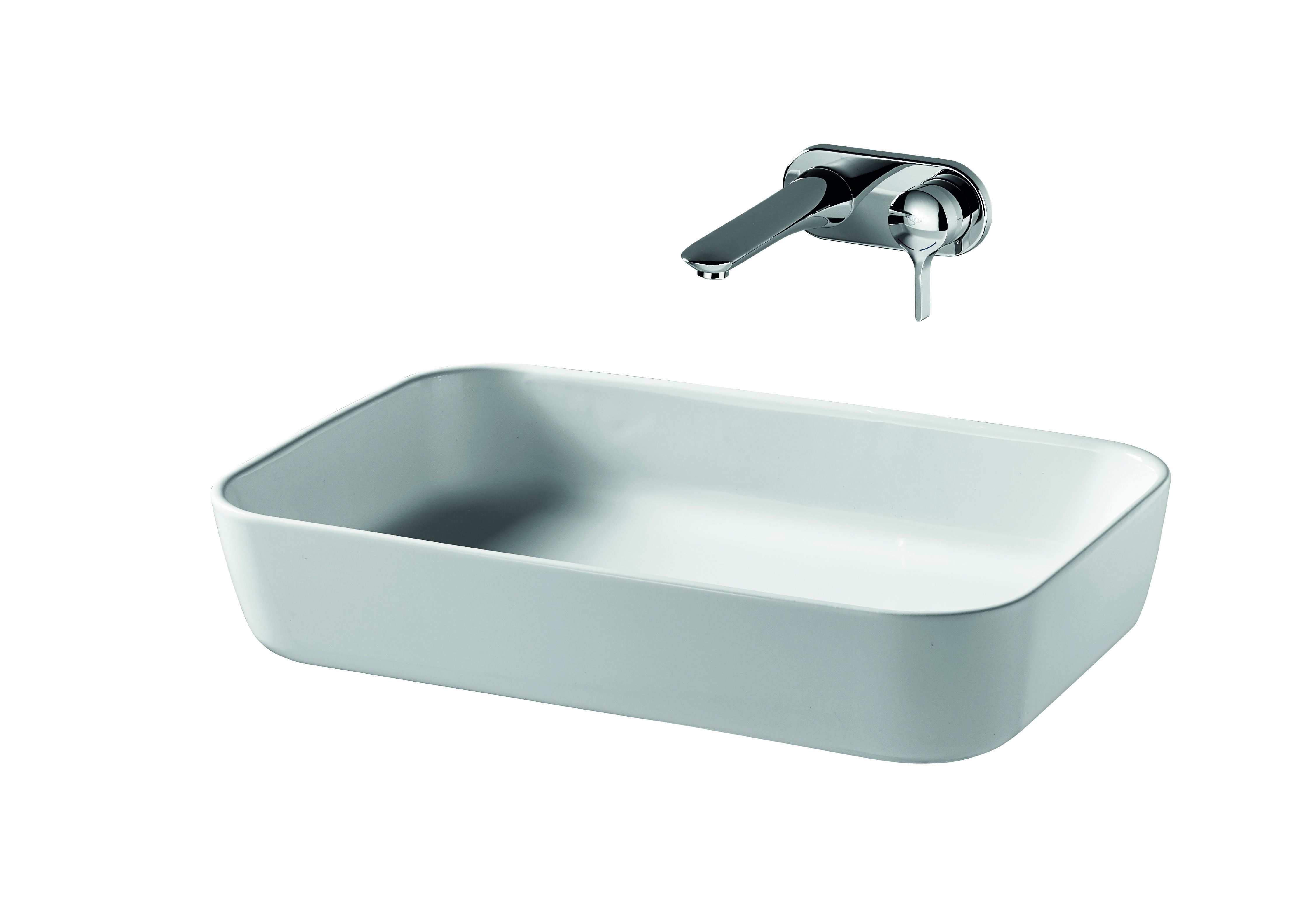 Bonamico is available in two shapes, each embracing the same design principles – the smaller basin is circular while the larger basin is extruded into a rounded rectangular form. #bathroomdesign