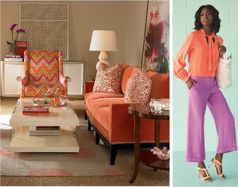 Trending Now Shades Of Orange Furniture Colorful Interior Design Living Room Decor #orange #and #cream #living #room