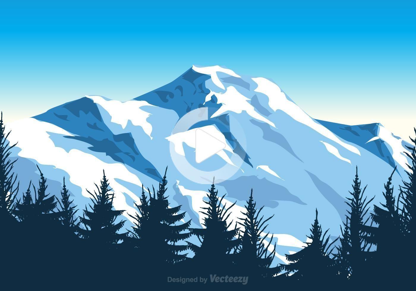Free vector mount everest illustration in 2020 landscape