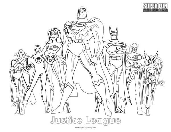 Justice League Coloring Pages # ...