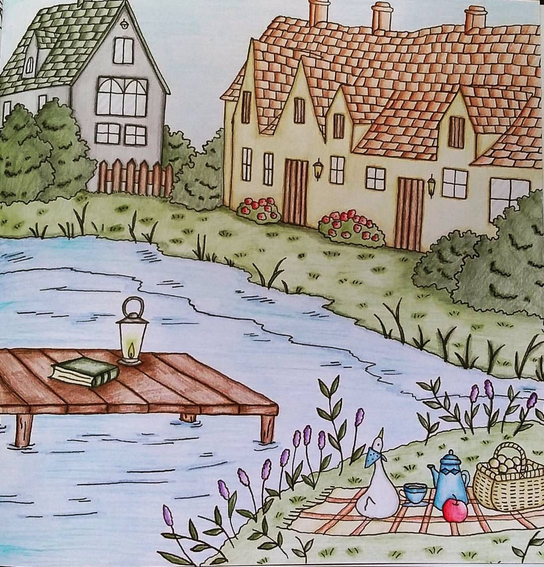 From Romantic Country Coloring Book One