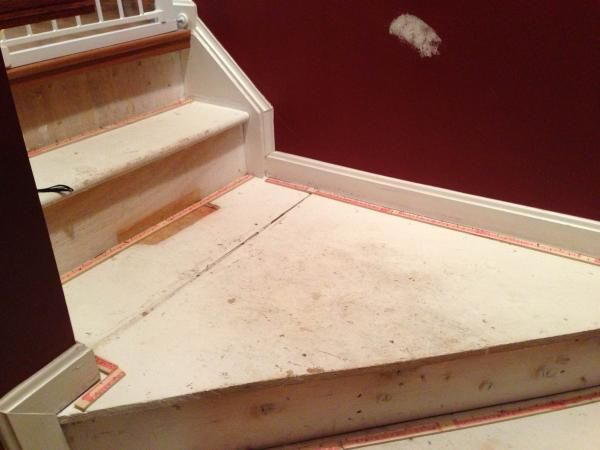 Pine Stair Treads With Plywood Landing Doityourself Com | Pine Wood Stair Treads | Stair Risers | Stair Nosing | Lumber | Unfinished Pine | Plywood