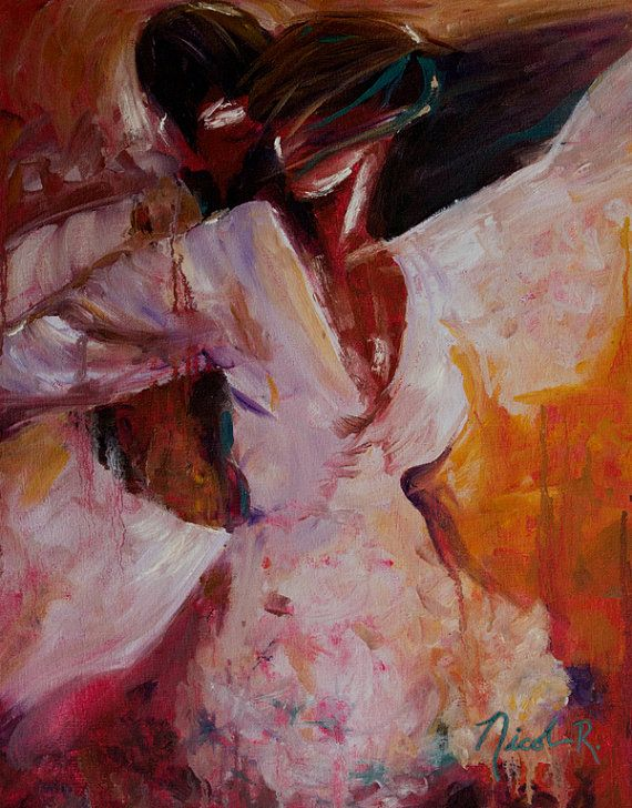 romantic paintings of couples dancing