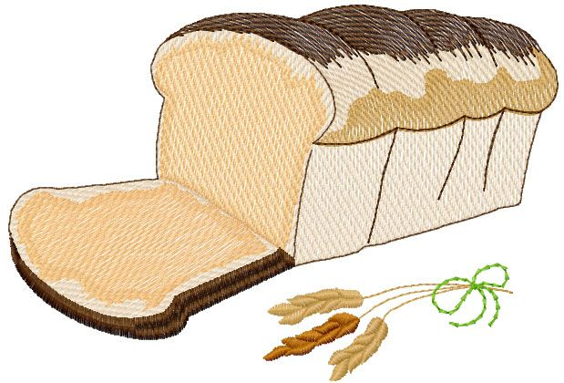 Bread Free Embroidery Design Kitchen And Cooking Embroidery