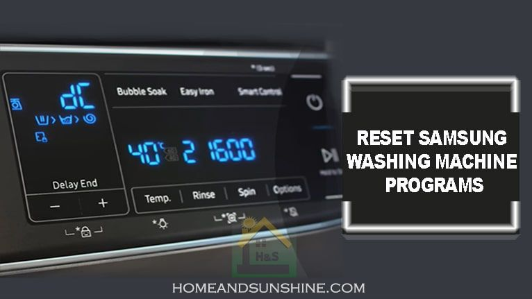 How To Reset Samsung Washing Machine Program Samsung Washing Machine Washing Machine Samsung