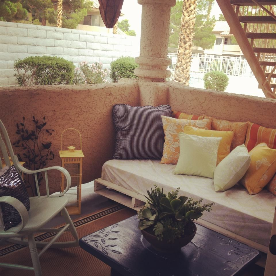 Diy Patio. Handmade Daybed Thrift Store Find And