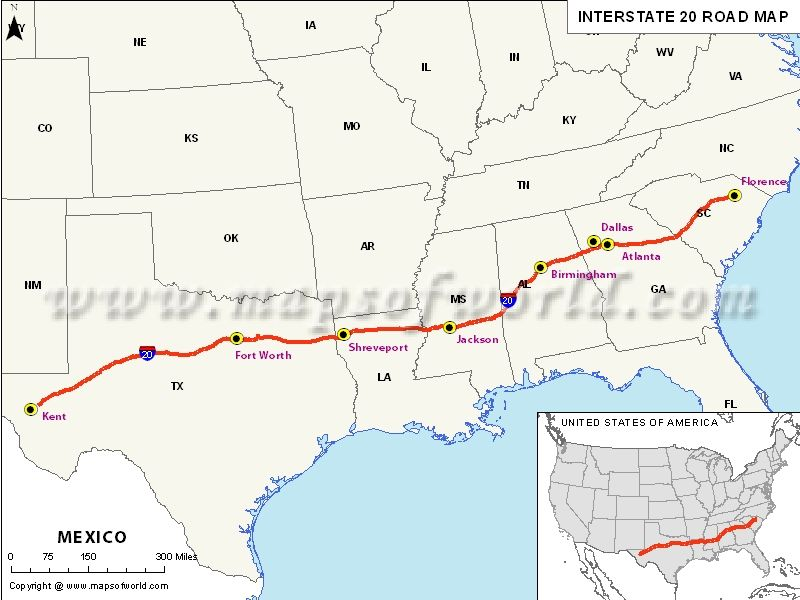 Interstate #Map #Texas #Louisiana #Mississippi #Alabama #Georgia ...