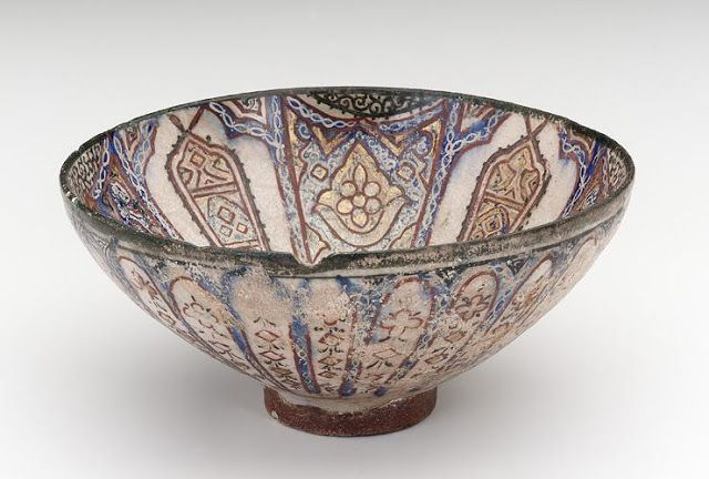 Bowl | Origin:  Iran | Period: late 13th century  Il-Khanid period | Details:  Not Available | Type: Stone-paste painted under glaze | Size: H: 8.3  W: 17.7  cm | Museum Code: F1909.316 | Photograph and description taken from Freer and the Sackler (Smithsonian) Museums.