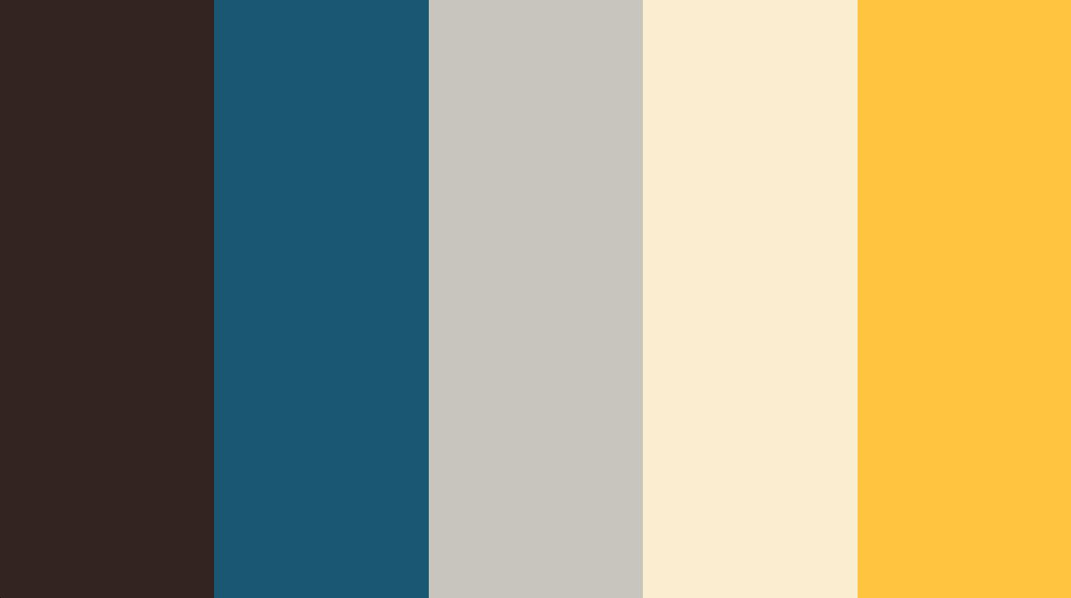 kleurenpalet petrol met bruin en geel  Kleurencombinaties